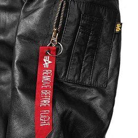 Куртка MA-1 D Tec Leather Alpha Industries изображение 6