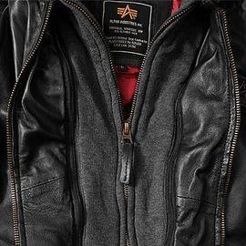 Куртка MA-1 D Tec Leather Alpha Industries изображение 4