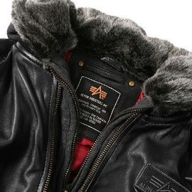 Куртка MA-1 D Tec Leather Alpha Industries изображение 3