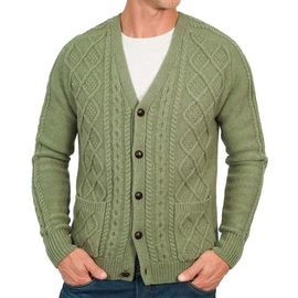 Свитер Lambswool Cable V-Neck Woolmark изображение 1