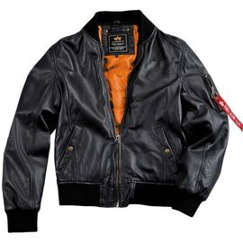 Куртка MA-1 Light Weight Leather Alpha Industries изображение 1