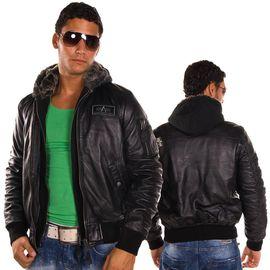 Куртка MA-1 D Tec Leather Alpha Industries изображение 1