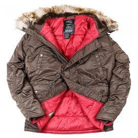 Аляска N3B Tight Husky II Nord Storm Brown/Red изображение 1