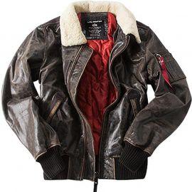 Куртка Injector III Leather Alpha Industries изображение 1
